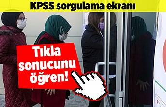 KPSS sorgulama ekranı! Tıkla sonucunu öğren!