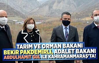 Tarım Ve Orman Bakanı Bekir Pakdemirli, Adalet Bakanı Abdulhamit Gül Kahramanmaraş'ta