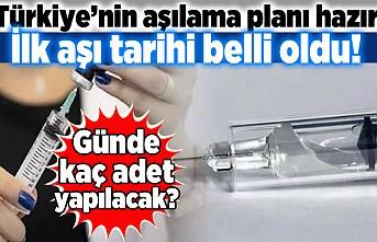 Türkiye'nin aşılama planı hazır! ilk aşı tarihi belli oldu! Günde kaç adet yapılacak?