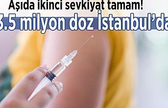 Aşıda ikinci sevkiyat tamam! 3.5 milyon doz aşı İstanbul'da