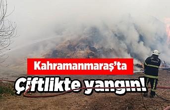 Kahramanmaraş'ta çiftlik yangını!