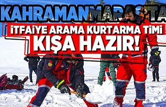 Kahramanmaraş'ta İtfaiye arama kurtarma timi kışa hazır!