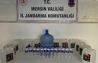 Anamur'da kaçak içki operasyonu