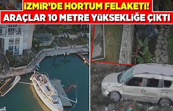 İzmir'de hortum felaketi! Araçlar 10 metre yüksekliğe çıktı