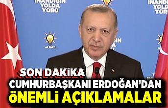 Son Dakika! Cumhurbaşkanı Erdoğan'dan önemli açıklamalar!