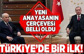 Türkiye'de bir ilk! Yeni anayasanın çerçevesi belli oldu!