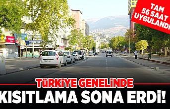 Türkiye genelinde kısıtlama sona erdi! 56 saat uygulandı!