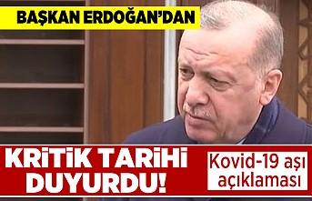 Başkan erdoğan'dan kovid-19 aşı açıklaması! Kritik tarihi duyurdu!