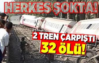 Herkes şokta! İki tren çarpıştı 32 ölü!