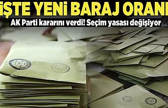 İşte yeni baraj oranı! AK Parti kararını verdi Seçim yasası değişiyor!
