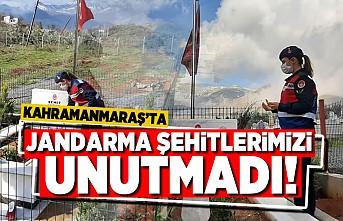 Kahramanmaraş'ta Jandarma şehitleri unutmadı!