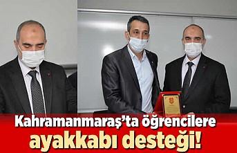 Kahramanmaraş'ta öğrencilere ayakkabı desteği!