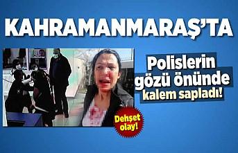 Kahramanmaraş'ta polislerin gözü önünde dehşet olay!