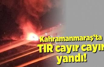 Kahramanmaraş'ta TIR cayır cayır yandı!