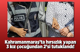 Kahramanmaraş'ta hırsızlık yapanlar tutuklandı!