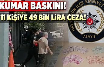 Kumar baskını 11 kişiye 49 bin tl ceza!