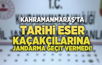 Kahramanmaraş'ta tarihi eser kaçakçılarına jandarma geçit vermedi!