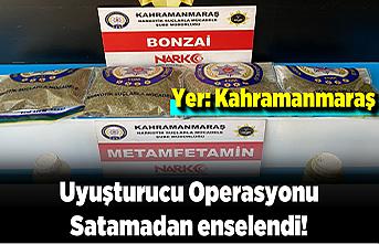 Kahramanmaraş'ta uyuşturucu operasyonu: Satamadan enselendi!