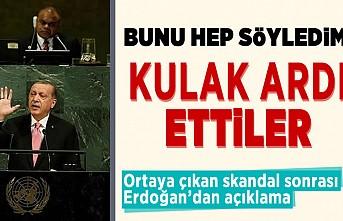 Bunu hep söyledim kulak ardı ettiler! Ortaya çıkan skandal sonrası Erdoğan'dan açıklama