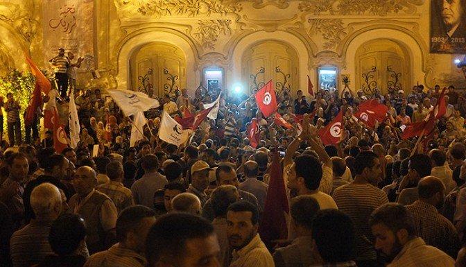 Tunus'ta 'teröre ve darbeye hayır' gösterileri