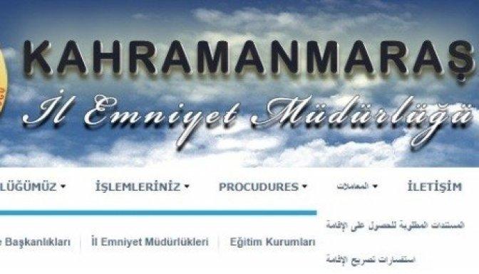 Emniyet Müdürlüğü'nden Suriyeliler için Arapça hizmet