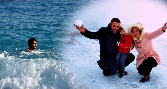 Antalya'da iki mevsim birden!!