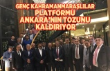 Genç Kahramanmaraşlılar platformu  Ankara'nın tozunu kaldırıyor