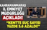 """Kahramanmaraş İl Emniyet Müdürlüğü açıkladı! """"Kahramanmaraş'ta suç oranı azaldı!''"""