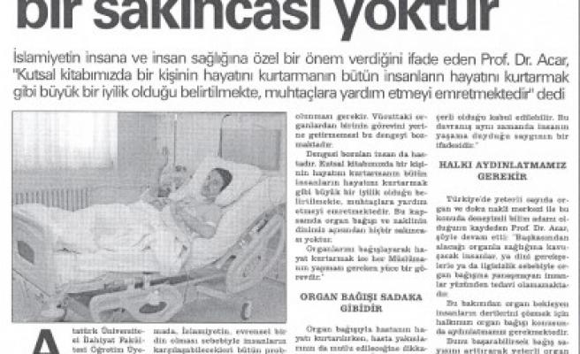 Kahramanmaraş'ta 16 kişi organ bağışladı..