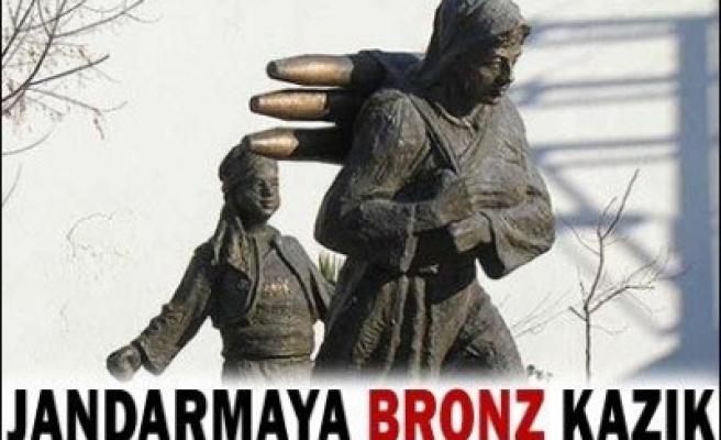 Jandarmaya bronz kazık!