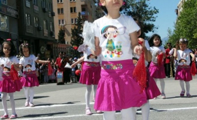 Kahramanmaraş'ta 23 Nisan coşkusu yaşandı