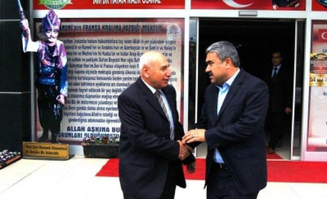 Müdür Aydın'dan Başkan Kuybu'ya veda ziyareti