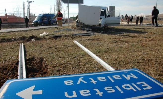Afşin'de trafik kazası: 1 yaralı…