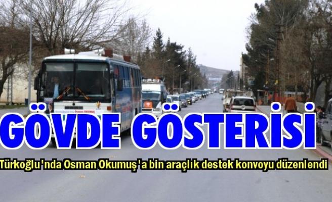 Okumuş'a bin araçlık destek konvoyu