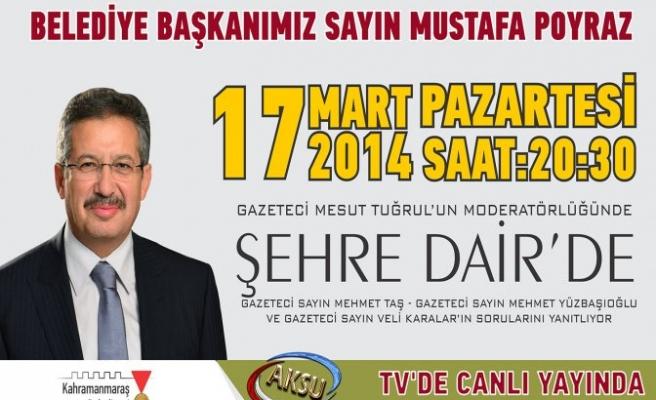 Poyraz 'Şehre Dair' Programına konuk olacak