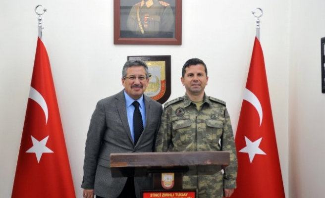 Poyraz'dan Komutan Acar'a Veda Ziyareti