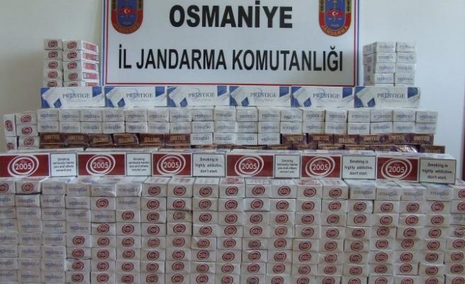 Osmaniye'de sigara kaçakçılığı