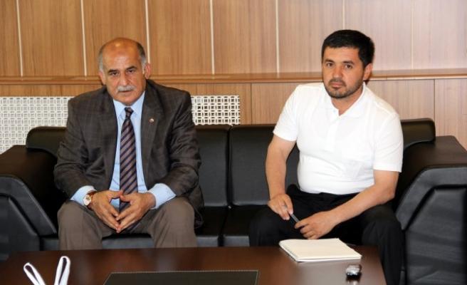 Tacik ve Kırgız iş adamlarından Erkoç'a ziyaret