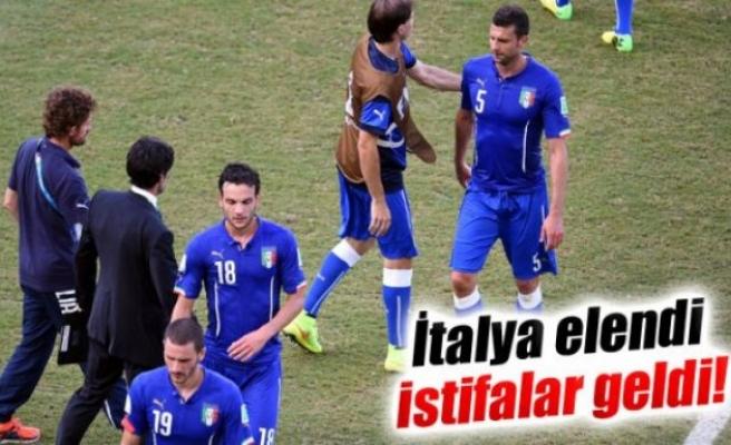 İtalya elendi, istifalar geldi