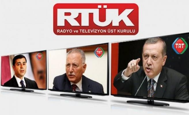 TRT'nin Erdoğan yayını RTÜK'ü karıştırdı