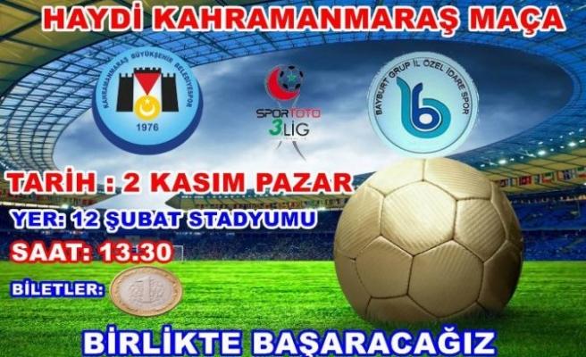B.Belediyespor taraftarı maça davet etti!