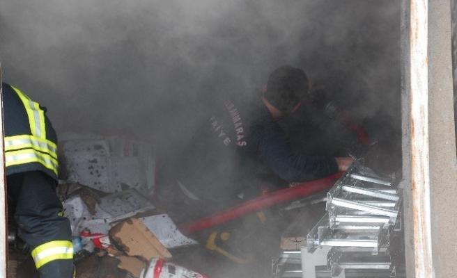 Elbistan'da İş Yeri Yangını Korkuttu