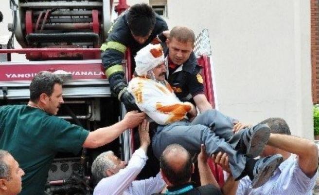 Elbistan devlet hastanesi'nde yangın ve kurtarma tatbikatı