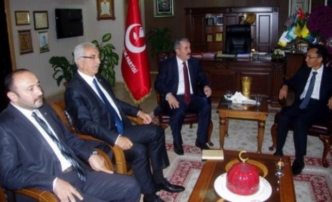 Çin Büyükelçisi Destici'yi ziyaret etti!