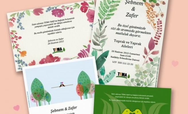 TEMA'dan geri dönüştürülebilir nikah ürünleri!