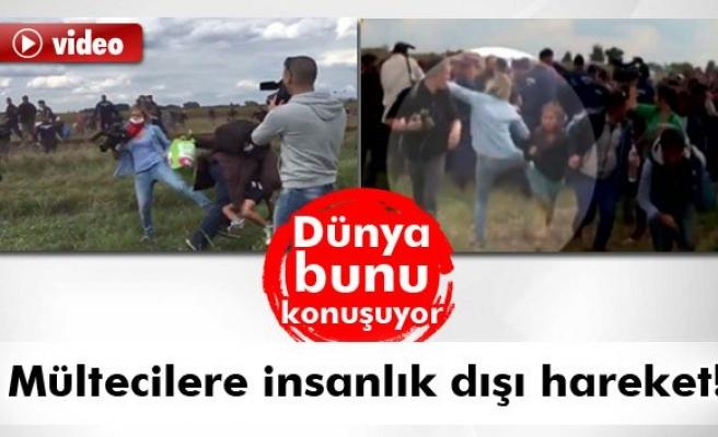Mültecilere insanlık dışı hareket!