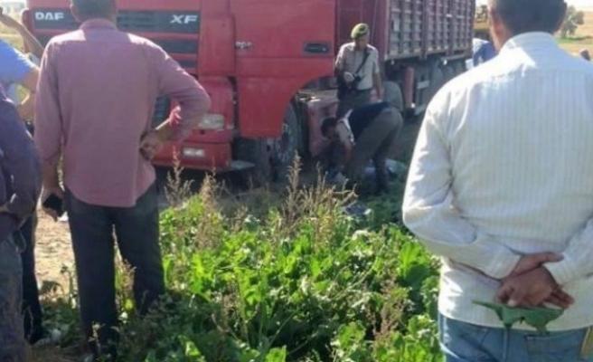 Elektriğin çarptığı kamyon sürücüsü hayatını kaybetti!