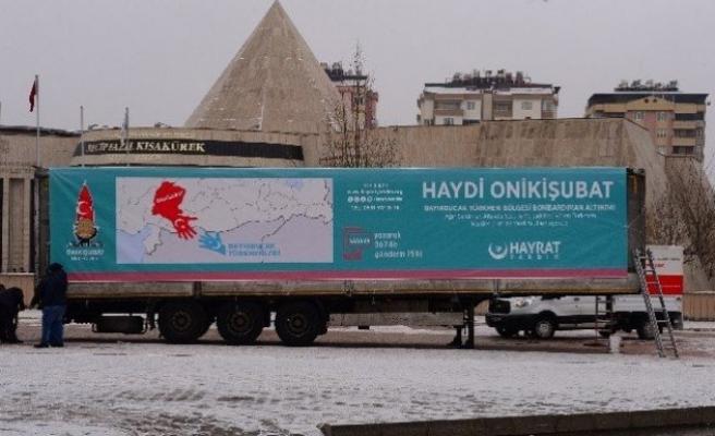 Onikişubat'tan Türkmenler'e yardım kampanyası!