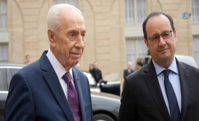 Hollande, Peres ile görüştü!