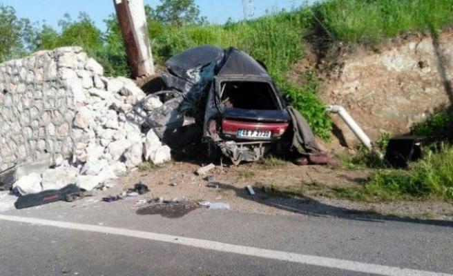 Kahramanmaraş'ta kaza: 2 ölü, 2 yaralı